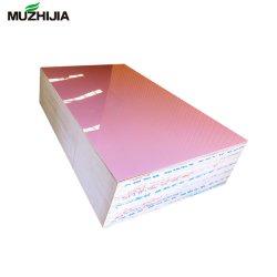 Het UV Kleurrijke Roze Marmeren Blad van pvc voor Muur