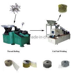 最もよい価格の機械、コイルの釘機械、コイルの釘の溶接機を作る自動コイルの釘