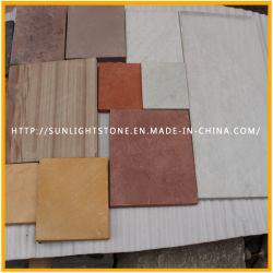 , Brown/Schokolade/Gelb/purpurroter/weißer Sandstein aufbauen/Baumaterial für Außenwand-Umhüllung