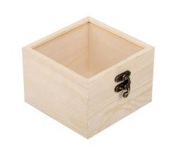 Сохранить упаковки свежих цветов, сосновой древесины из прозрачного стекла крышку свадебный подарок в салоне, дружественность из естественной древесины подарочной коробке для хранения