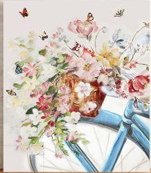 Vélos et de fleur avec HP pour obtenir de l'art mural GF-P19052236