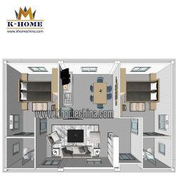 Salle de séjour de la famille préfabriqués de luxe