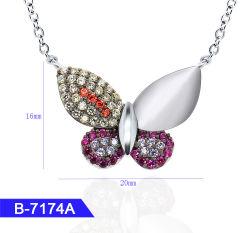 In het groot Kunstmatige Juwelen 925 van de Manier de Echte Tegenhanger van de Vlinder van het Zirkoon van het Zilver of van het Messing voor Vrouwen