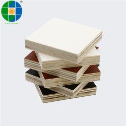 マットの光沢のあるスムーズな浮彫りにされた表面の終了するメラミンによって薄板にされた合板の倍は直面されたボード家具の使用法E0 E1 E2 WBPの接着剤のためのメラミンによって味方した