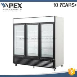 3 Self-Closing навесная стеклянные двери в вертикальном положении дисплей охладителя