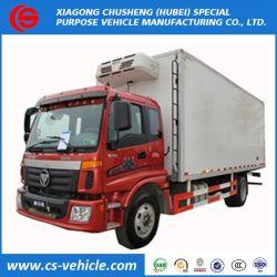 Foton 4X2 Nahrungsmittel-LKW gekühlter Kühlraum-Gefriermaschine-LKW 10 Ton Refrigerator Van Truck für Fleisch und Fische