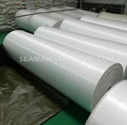 De PP PE tecidos de ráfia tecido tubular, Single/Double Vci laminação de filme/papel tecidos de ráfia