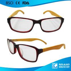 Gafas de marco para las niñas de bambú templo lupa lentes de lectura