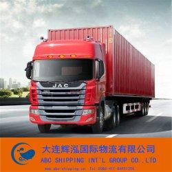 De Vrachtwagen die van de container in China verschepen