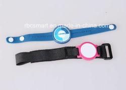 Zoll Gewebe-Gesponnene wasserdichte intelligente Identifikation-Karte, die RFID/NFC Wristband-Armband aufspürt