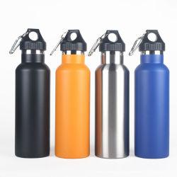 L'eau en acier inoxydable fiole vide thermique isolé bouteille d'eau Sport ballon 500ml 600ml 750ml 1000ml