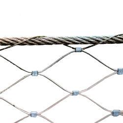 netwerk van de Draad van de Dierentuin van de Omheining van de Kabel van de Draad van het Roestvrij staal van 1.2-3 mm het Dierlijke