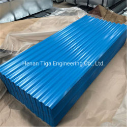 Diamante reforzado de acero galvanizado corrugado Prepainted Teja