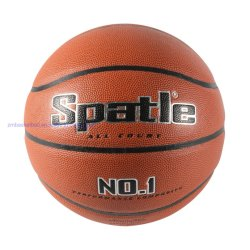 Taille officielle laminé PVC dans Brown de basket-ball intérieur extérieur jouer