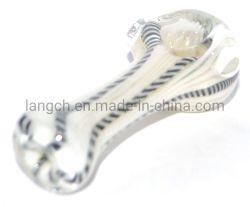 À l'intérieur de changement de couleur noir et blanc en verre de canne à tuyau d'eau narguilé Bécher de verre Verre tuyau ACCESSOIRES POUR FUMEUR