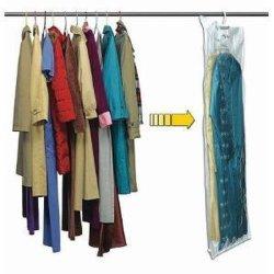 衣服のためのハングの真空の記憶圧縮された袋