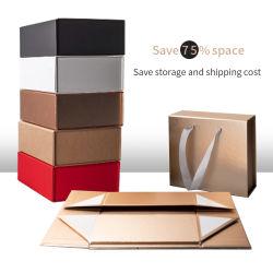5 Pequenos grandes papelão dobrável personalizado de Caixas de Embarque Custom Rosa de Ouro Preto e Branco vestuário/Roupas/Lingeries/vinho/Cosmetic/Electronics/Perfume/Calçados