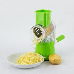 2021 novas chegadas Ferramenta Cozinha cortador com pedal Manual ralador de legumes com 3 fios de aço inoxidável lâminas tambores