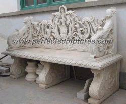 Камень мрамор сад в старинной садовая мебель (QTC004)