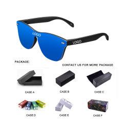Neue Mode Sonnenbrille Ein Stück Trend Persönlichkeit Brillen Brand Design Schutz Reflektierende rahmenlose Sungless UV400