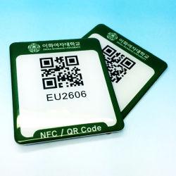 Le logo autocollant numéro imprimé anti métal plastique Passive 13.56MHz 1K RFID MIFARE Classic PVC Étiquette de disque