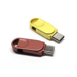 Disco Flash USB OTG de metal resistente al agua una unidad flash USB de tipo C Flash Drive USB 3.1 Generic 16/32/64/128GB (UL-TC005)