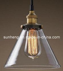 Weinlese industrielles hängendes Liamp des Glasfarbton-hängende Licht-E27