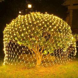 Wasserdichte blinkende Zeichenkette beleuchtet Nettolichter der Weihnachtslicht-LED für Weihnachtsfeiertags-Dekoration