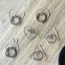 Универсальный держатель для мобильного телефона стента стойку пальцем кольцо магнитный для Cute сотовых смартфонов прозрачный держатель для iPhone Xs Max 7