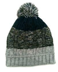 فتى شتاء كبل دافئ يحبك غطاء قبعة مع قطنيّة صوف بطانة