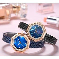 Mini enfoque moderno y minimalista mujeres urbanas de cuarzo Relojes de oro rosa correa de acero inoxidable resistente al agua señoras Business Relojes de pulsera