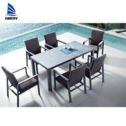 Meubles de jardin en aluminium aluminium Table de salle à manger en plein air en plein air Outdoor Chaises Chaises de jardin mobilier extérieur
