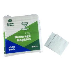 Custom Hout Beverage White Paper Serviettes 14 gevouwen Napkin Vervaardiging