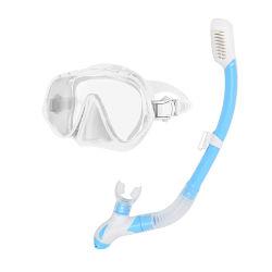 2020 Hot Sell Full Silicone Frame Mask (قناع إطار سيليكون الكامل) والغوص تحت الماء تم تعيين القناع