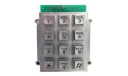 12-Keys tastiera in lega di zinco, Sporgere-Tipo tastiera, tastiera sensibile di reazione