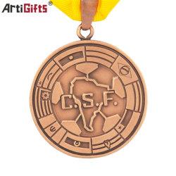 Customized Antique Medalha de Bronze cobre antigo Sport/Medalha de Ouro Medalha de Metal