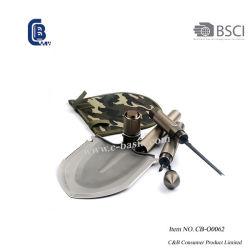 De style militaire Muiti-Function pelle de pliage, Pliage, le camping de la Pelle pelle, Collapsible Chat Outdoor les outils à main