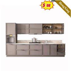 Home Hotel Mobili cucina MDF legno moderno armadio cucina personalizzato