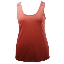 أنثى يوميّة لباس سيادات [رووند-نك] [سليفلسّ] خلفيّة فاخر شريط نساء أعلى