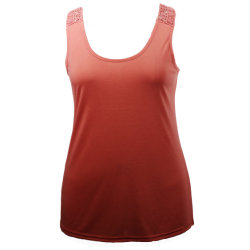 Senhoras Round-Neck sem mangas de camisa Top Fancy Lace blusa casual para Mulheres