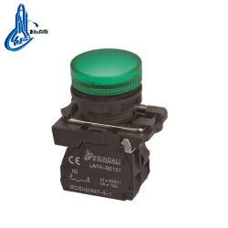 Lay4-EV63 LED luces de señal en verde la luz indicadora de pulsar el botón de contacto