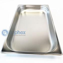 Buphex Edelstahl Gastronorm Behälter-(1/1 GN verschieben tiefe 65mm), Größe 530X325mm