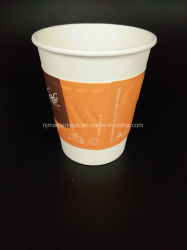 Rizado desechables de papel Café Taza con tapa y el manguito