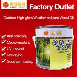 Óleo de madeira Jd Tung Pintura Exterior de óleo à prova de vandalismo de alto brilho revestimento de madeira