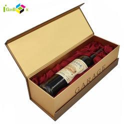 Verpakkende Vakje van de Wijn van de Douane van het Document van het Karton van Champagne van de Wijn van het Ontwerp van de luxe het Enige