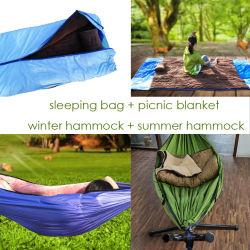 Hammock staccabile multifunzionale, sacco a pelo + Hammock di inverno + Hammock di estate + coperta di picnic