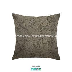 ホテルの寝具の方法シュニールヤーンはジャカードによって装飾されたソファのクッションを染めた