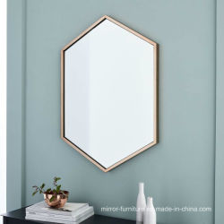 Oro Plata hexagonal Docorative Marco espejo Baño Vestidor
