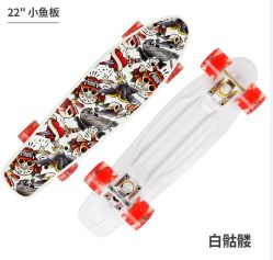 22pulgadas de skate de plástico con impresión en color y flash LED ruedas