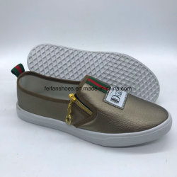 Dernière Lady Slip-on pu chaussures chaussures occasionnel d'injection de chaussures de sport (Xy0629-4)